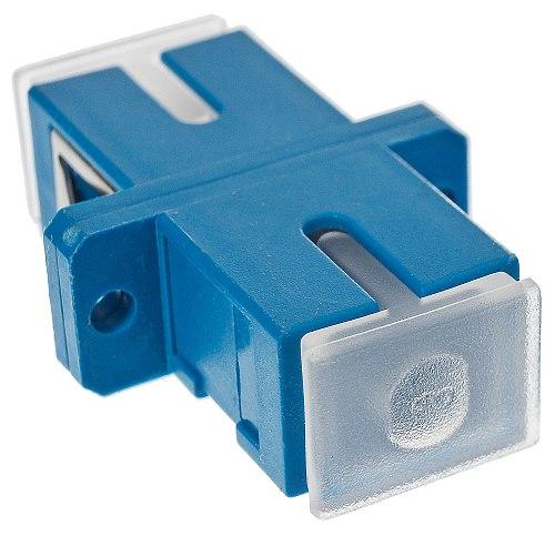 Adapter jednomodowy SC/UPC simplex zaślepka transparentna