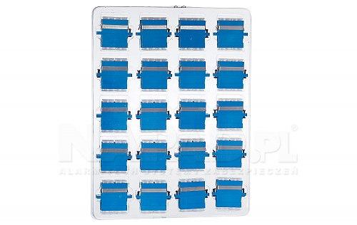 Komplet adapterów SM SC/UPC duplex