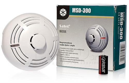 Bezprzewodowa czujka dymu i ciepła MSD-300