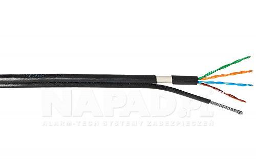 Przewód sieciowy nośny UUTP cat 5e UV ziemny