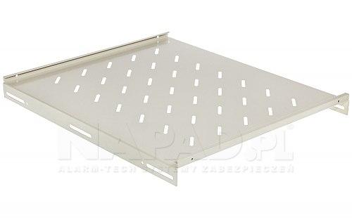Biała półka do szafy Rack 19'' 800mm