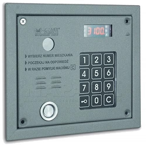 Panel domofonowy CP3103TR szary Laskomex z czytnikiem DALLLAS i RFID