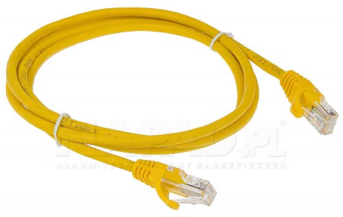 Patchcord UTP kat.5E żółty - 1.5m