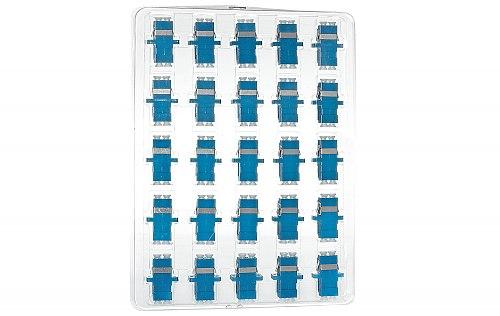 Komplet adapterów optycznych SM LC UPC duplex