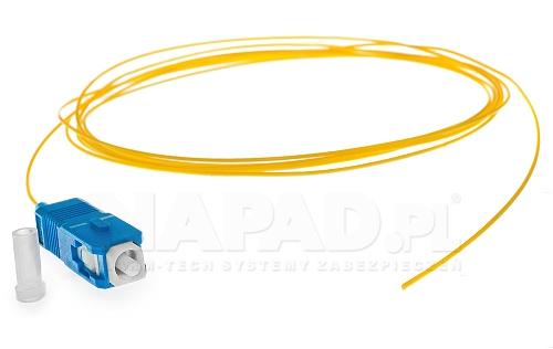 Pigtail optyczny jednomodowy SC SM 9/125 2m