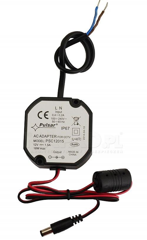 Zasilacz stabilizowany impulsowy PSC12015 1,5A/12V