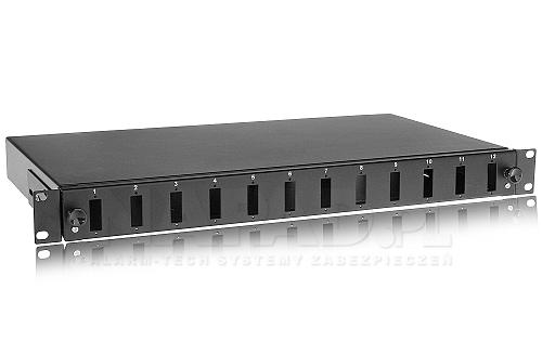 Przełącznica światłowodowa 12-portowa typu SC duplex