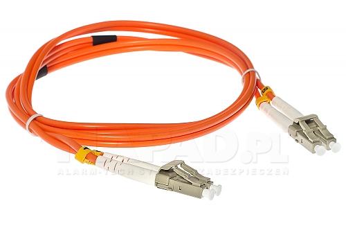 Patchcord optyczny wielomodowy LC-LC 50/125 1m duplex