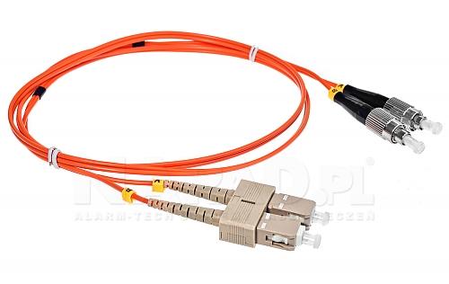 Patchcord optyczny wielomodowy SC-FC 50/125 1m duplex