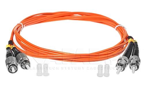 Patchcord optyczny wielomodowy FC-ST 50/125 2m duplex