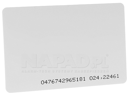 karta zbliżeniowa EMC-1 z numerem