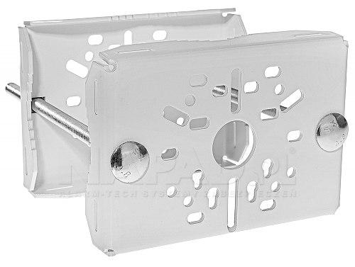 Uniwersalny uchwyt do słupa DKS-105 w kolorze białym