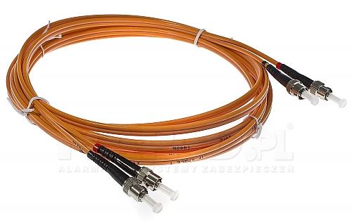Patchcord optyczny wielomodowy ST-ST 50/125 1m duplex
