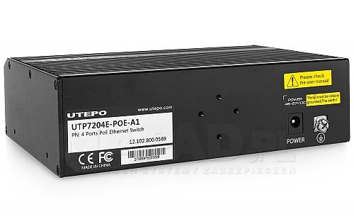 SW204EPOEA1 - przełącznik sieciowy z zasilaczem PoE 60W