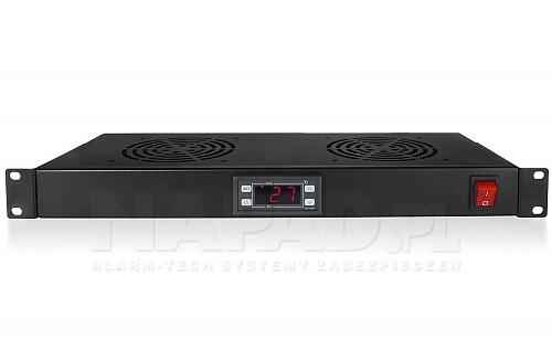 Półka z dwoma wentylatorami i kontrola temperatury FANSKT