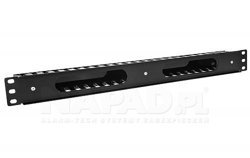 Plastikowy organizer kabli OP21 1U