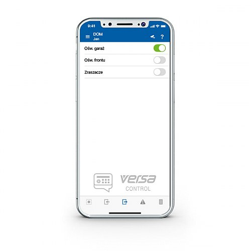 Aplikacja do sterowania systemem alarmowym VERSA CONTROL