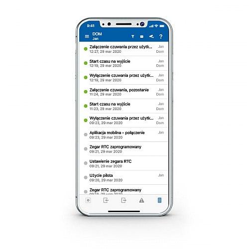 Aplikacja do sterowania systemem alarmowym