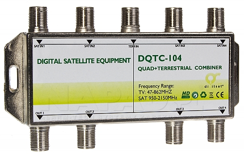 Sumator RTV/SAT 5x4 DQTC-104
