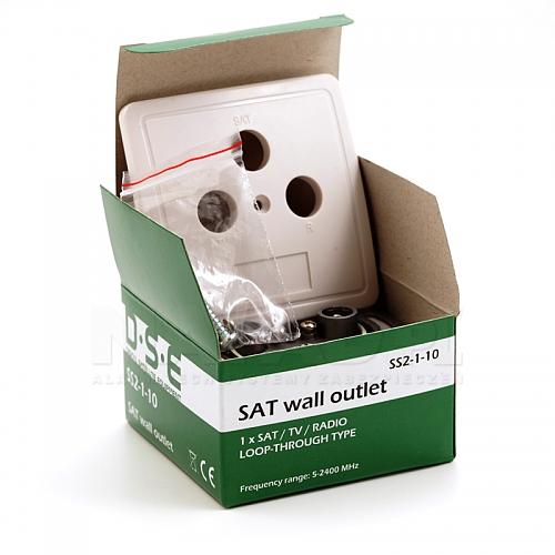 Gniazdo przelotowe RTV-SAT SS2-1-10