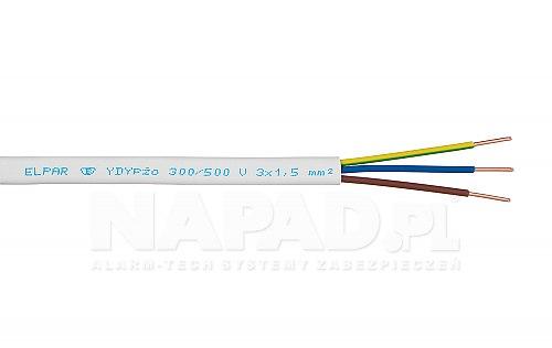 Przewód wielożyłowy YDY p żo 300V 500V Elpar 3x1,5 mm