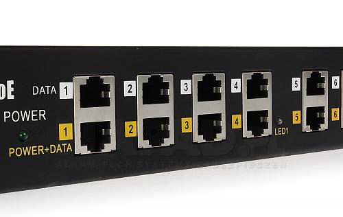 Adapter Gigabit PoE 12-portowy do szafy RACK 19