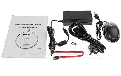 Akcesoria dostępne w zestawie z modelem IPOX PX-NVR0421E-P4