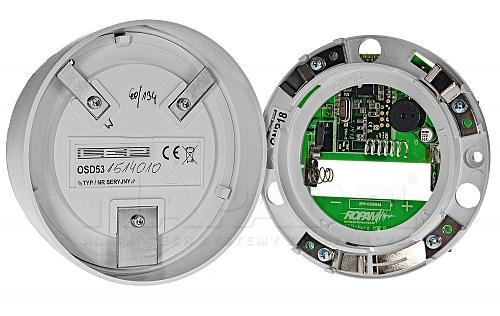 Bezprzewodowa, optyczna czujka dymu OSD-Aero