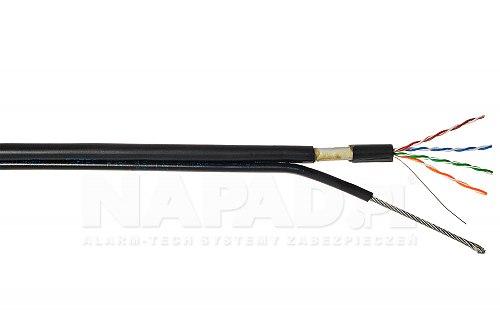Kabel F UTP cat 5e PE żelowany