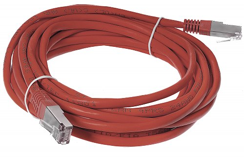 Patchcord FTP kat.5E - 5m kolor czerwony