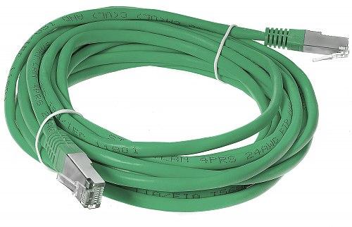 Patchcord FTP kat.5E - 5m kolor zielony