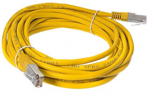 Patchcord FTP kat.5E - 5m kolor żółty