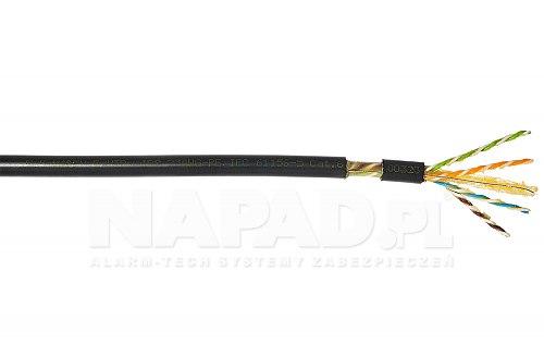 Przewód sieciowy F UTP cat 6 Madex ziemny GEL