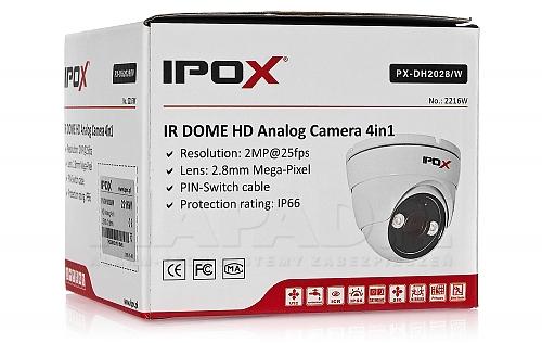 Kopułkowa kamera 4w1 IPOX PX-DH2028 w kolorze białym