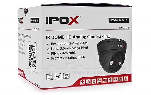 Kamera Analog HD w kolorze grafitowym IPOX PX-DH2036/G