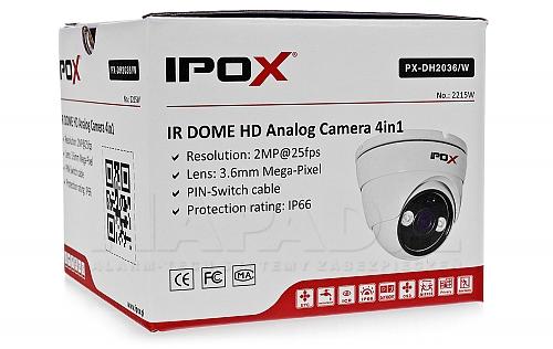 Kamera Analog HD w kolorze białym IPOX PX-DH2036/W
