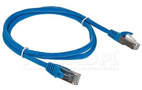 Patchcord FTP kat.5E - 1m niebieski