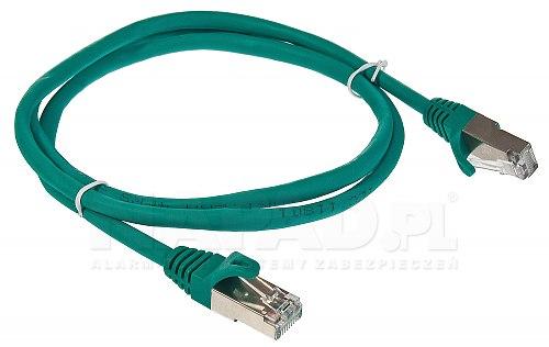 Patchcord FTP kat.5E - 1m zielony