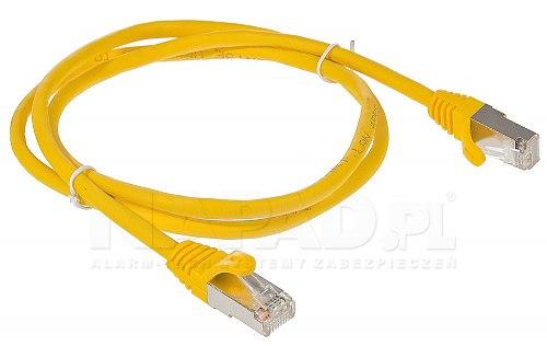 Patchcord FTP kat.5E - 1m żółty