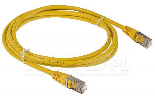 Patchcord FTP kat.5E - 2m żółty