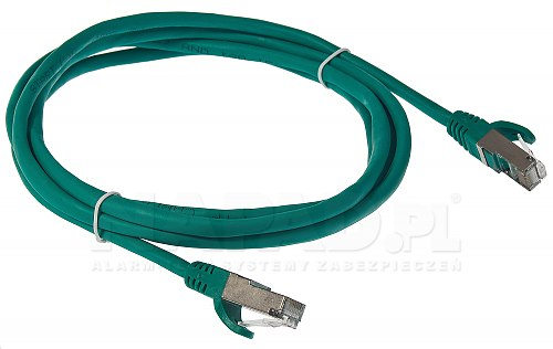 Patchcord FTP kat.5E - 3m zielony
