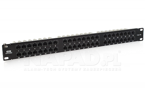 Patch panel 48-portów UTP5e 19