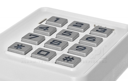 Nowoczesna klawiatura w zamku ZS-40 białym