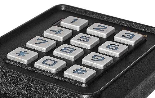 Nowoczesna klawiatura w zamku ZS-40 czarnym