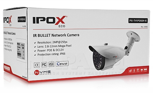 Opakowanie kamery IP ECO - IPOX PX-TVIP2024-E