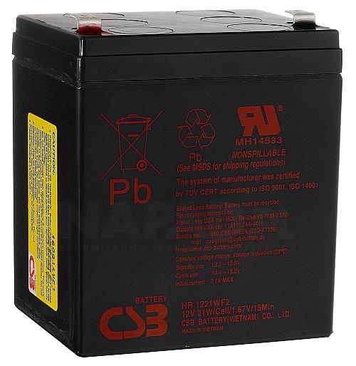 Akumulator CSB 12V 5.1Ah HR-1221W