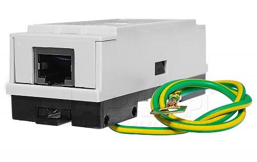 Ochronnik sieci LAN z POE PTF1 DIN