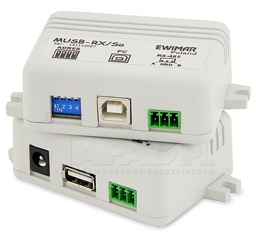 MUSB-1/1/So v3.2Adresowalny przedłużacz myszy USB z separowanym odbiornikiem