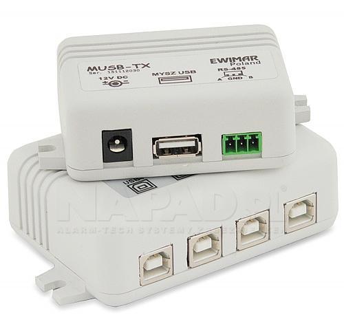 MUSB-4/1So v3.2 Aktywny przedłużacz myszy USB z separowanym odbiornikiem