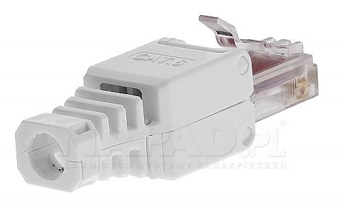 Mechaniczny wtyk na kabel kategorii 6